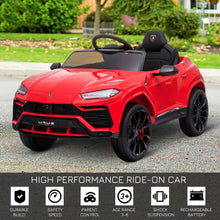 Load image into Gallery viewer, Lamborghini Urus 12V Kids Electric Ride On Car - RED