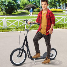 "Load image into Gallery viewer, Adult Teen Push Scooter Kids Bike Bicycle Ride On Alloy Wheel Pneumatic 12"" Tyres-Black"