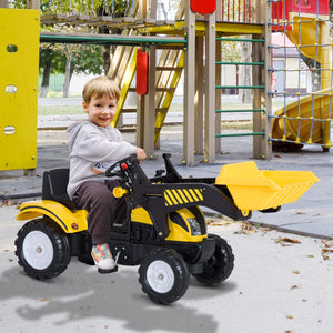 Kids Pedal Go-Kart Ride-On Excavator w/ Digger on Four Wheels