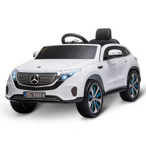 Benz EQC 400 12V Kids Electric Ride On Car - White