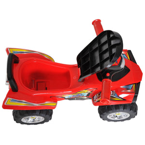 Kids Ride On Quad Bike, 60Lx38Wx42H cm-Red