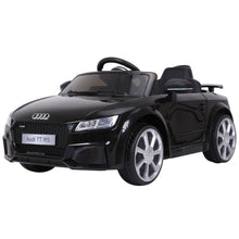 Load image into Gallery viewer, Kids Licensed Audi TT Ride-On Car 6V Battery w/ Remote Suspension Headlights and MP3 Player 2.5-5km/h Black