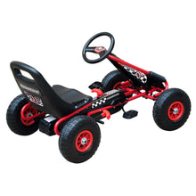 Load image into Gallery viewer, Pedal Go Kart W/EVA Wheels-Red/Black