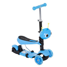 Load image into Gallery viewer, 5-in-1 Kids Kick Scooter W/Removable Seat-Blue