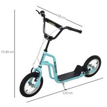 Load image into Gallery viewer, Kids Steel Height Adjustable Kick Scooter Blue/Black