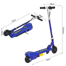 Load image into Gallery viewer, Folding Kids Electric Scooter, Age 7-14-Blue/Black
