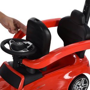 Toddlers Licensed Mercedes-Benz Ride On Stroller Red