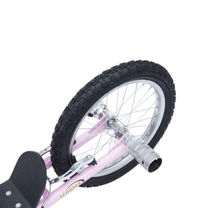 "Non-Electric Pneumatic 16"" Tyres Scooter-Pink"