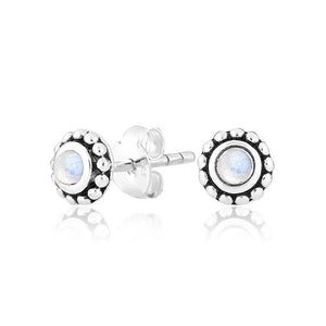 Blossom Moonstone Studs by Static Jewellery