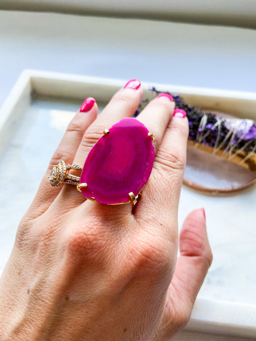 Agate Ring - Gold