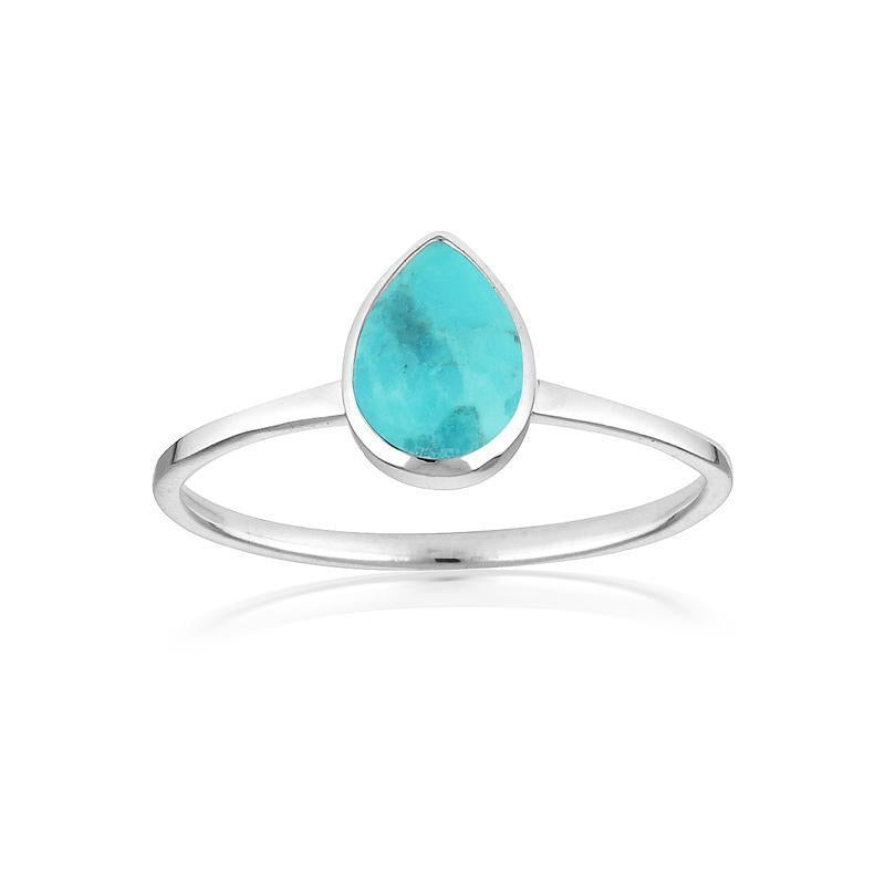 Teardrop Turquoise Ring by Static Jewellery