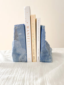 Blue Quartz Bookends