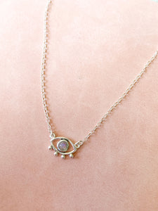 Evil Eye Moonstone Necklace by Static Jewellery