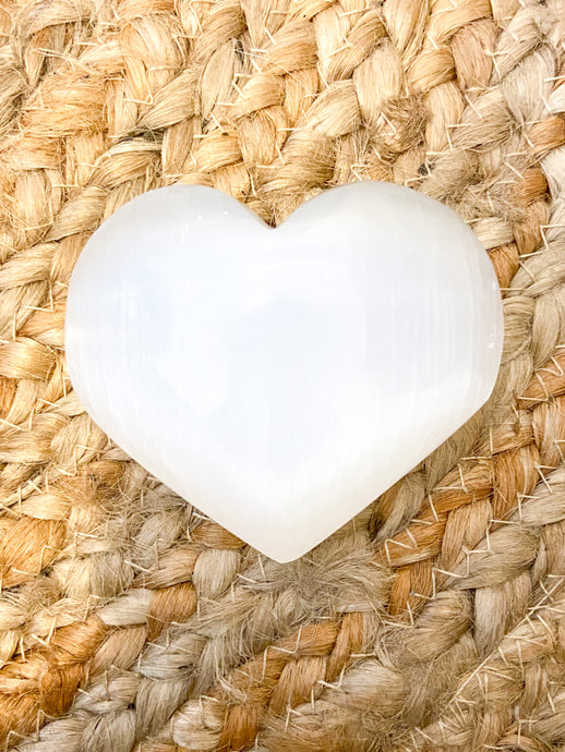 Selenite Heart (large)