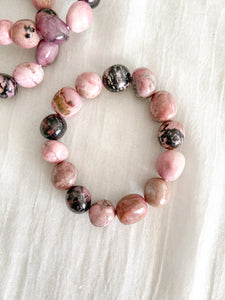 Tumbled Rhodonite Bracelet