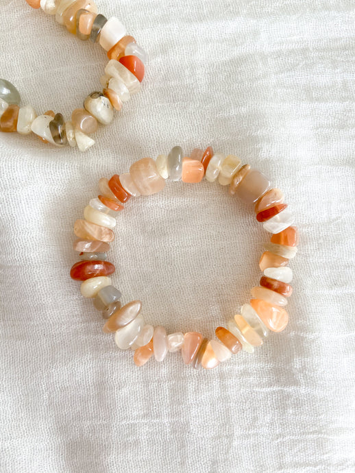Natural Moonstone Chunky Chip Bracelet