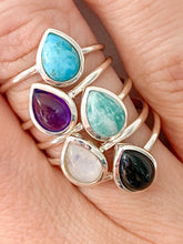 Load image into Gallery viewer, Teardrop Turquoise Ring by Static Jewellery
