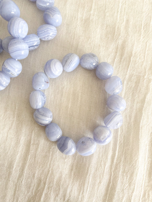 Tumbled Blue Lace Agate Bracelet