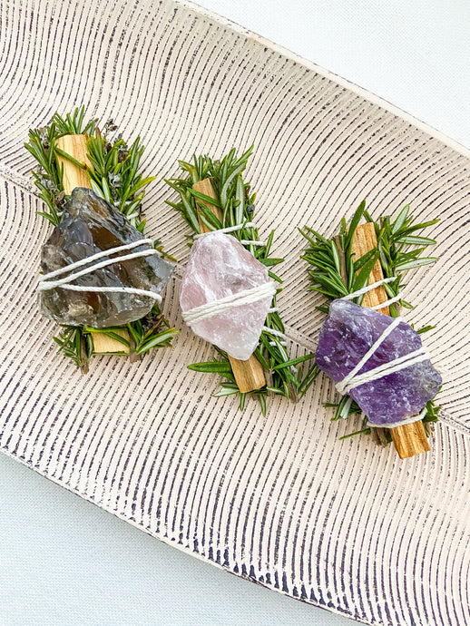 Herb Smudge Bundle - Reiki infused
