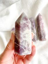 Load image into Gallery viewer, Lepidolite & Pink Tourmaline Point