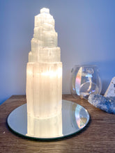 Load image into Gallery viewer, Selenite Tower Lamp - 25cm