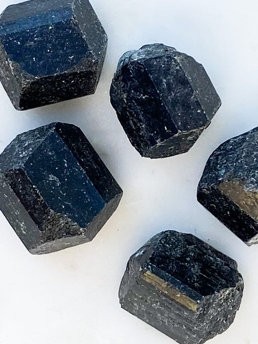 Black Tourmaline Rough Tumble Stone