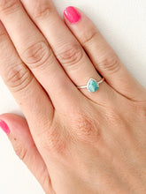 Load image into Gallery viewer, Teardrop Amazonite Ring by Static Jewellery