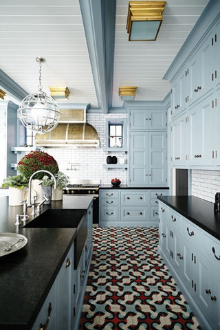 Blue Kitchen Cabinets for Blue in a Kitchen Idea