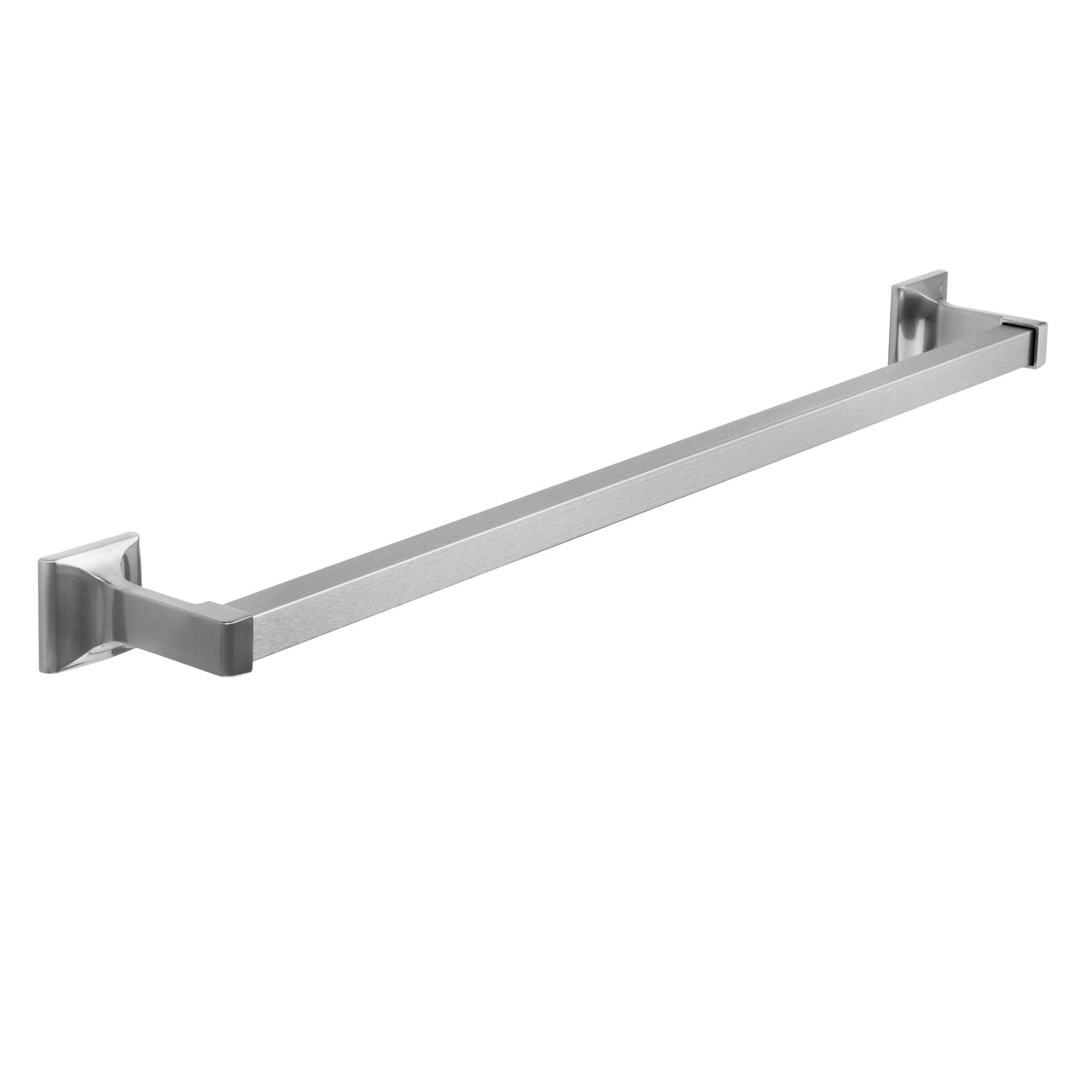 "Designers Impressions Eclipse Series Satin Nickel 24"" Towel Bar"