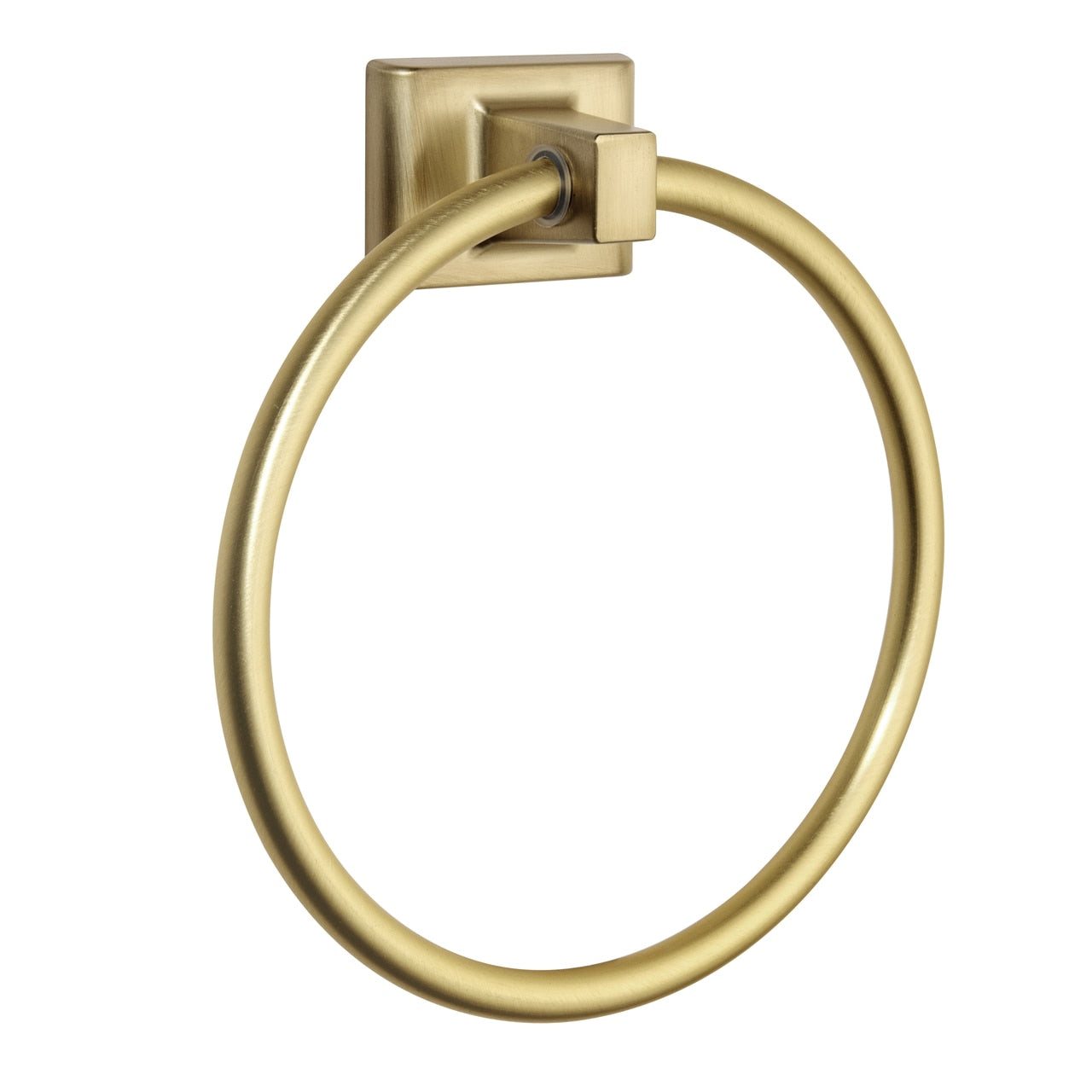 Designers Impressions Eclipse Series Brushed Brass Towel Ring