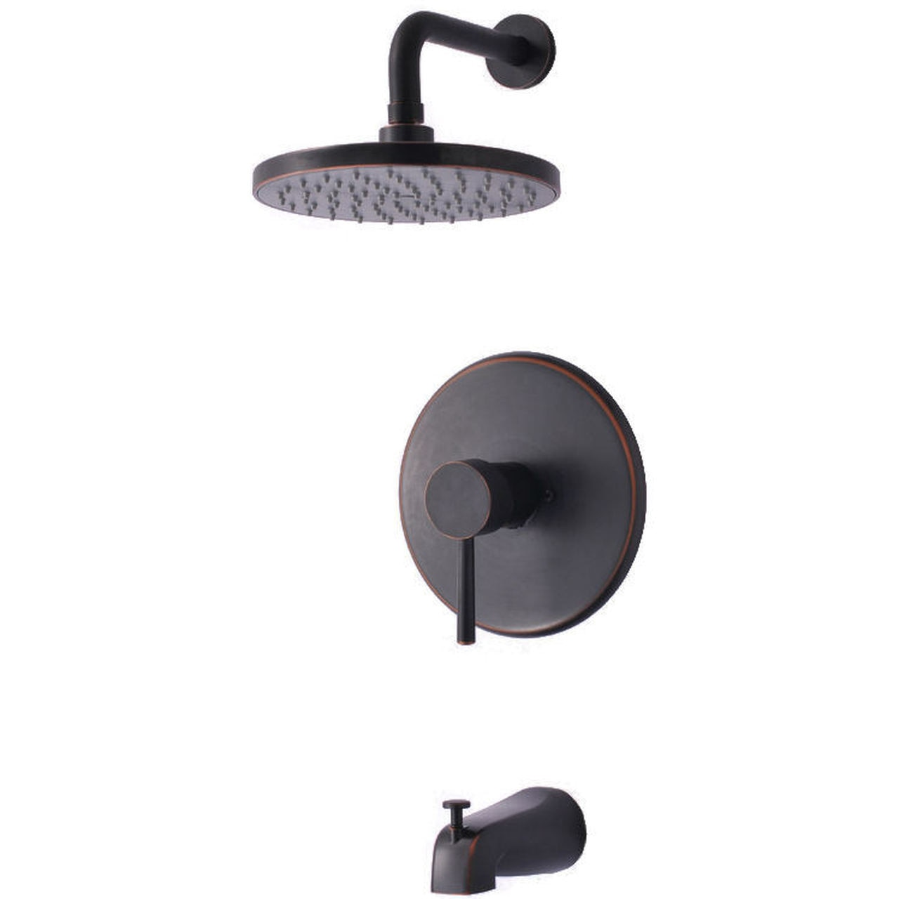 Hardware House 13 5474 Oil Rubbed Bronze Tub Shower Combo Faucet Doorcorner Com