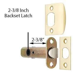 Dynasty Hardware Crystal 1830-PRIV-US3 Privacy Door Knob, Polished Brass