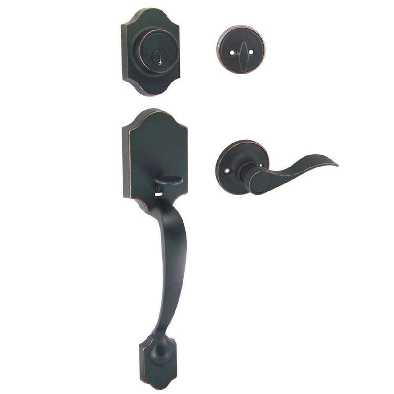 Valhala Oil Rubbed Bronze Decorative Handleset with Kingston Lever