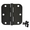 "Cosmas Oil Rubbed Bronze Door Hinge 3 1/2"" with 5/8"" Radius Corners"