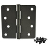 "Cosmas Oil Rubbed Bronze Door Hinge 4"" with 1/4"" Radius Corners"