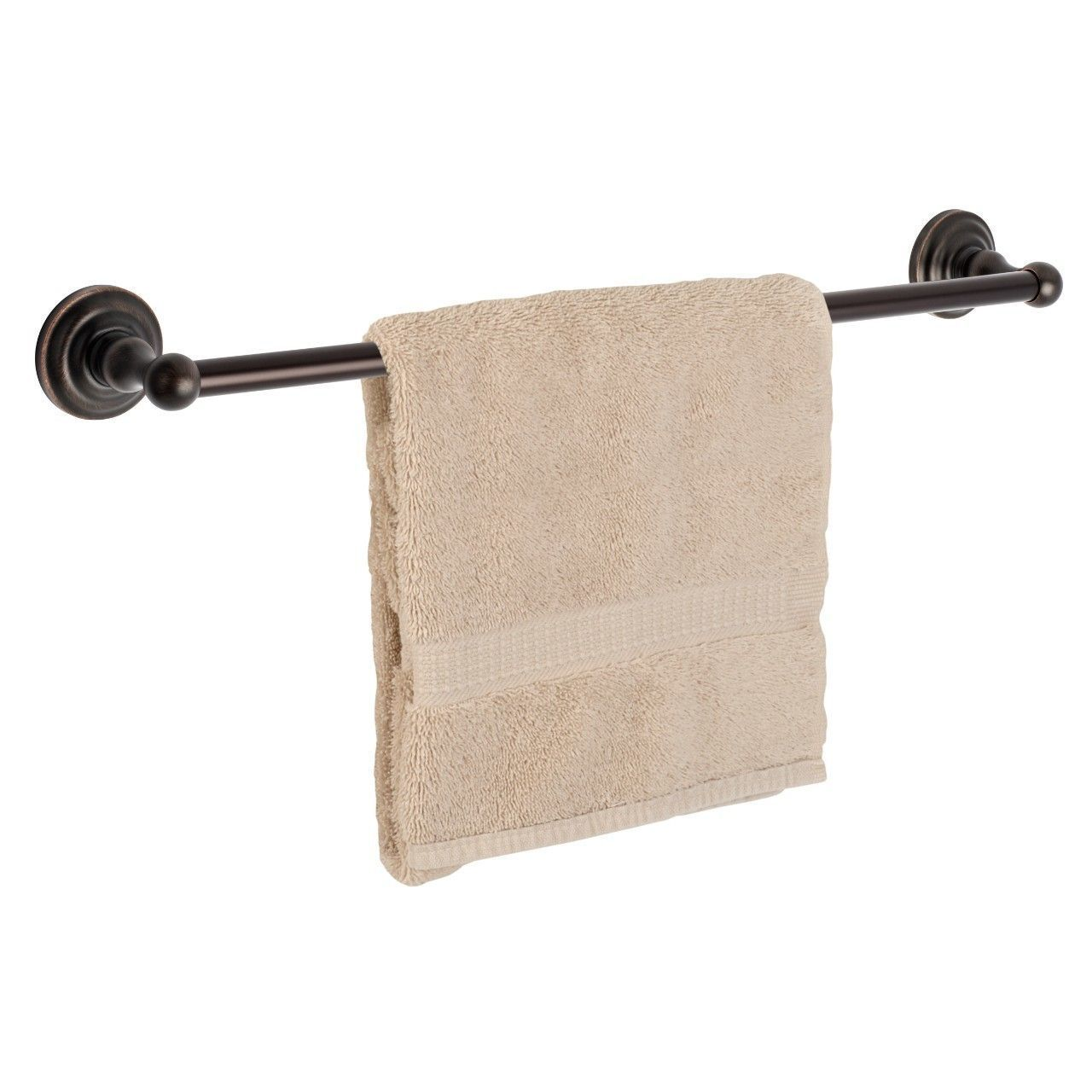 "Dynasty Hardware Palisades 3824-ORB Oil Rubbed Bronze 24"" Single Towel Bar"