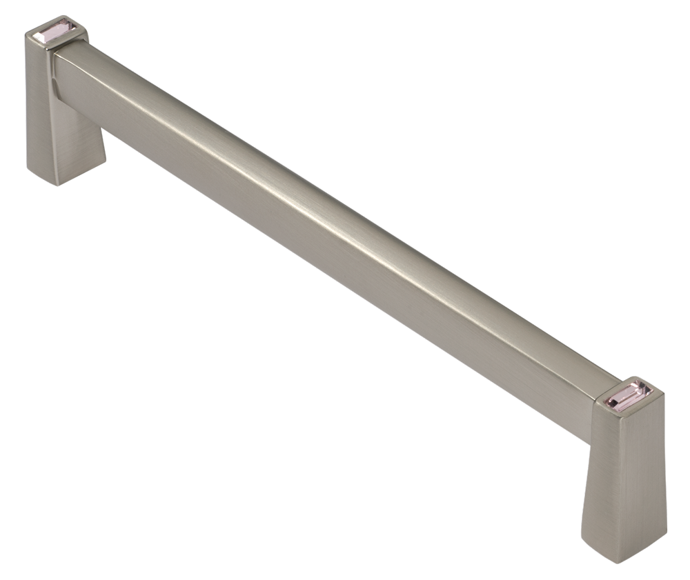 Long Island 128mm Cabinet Pull, Satin Nickel, Pink