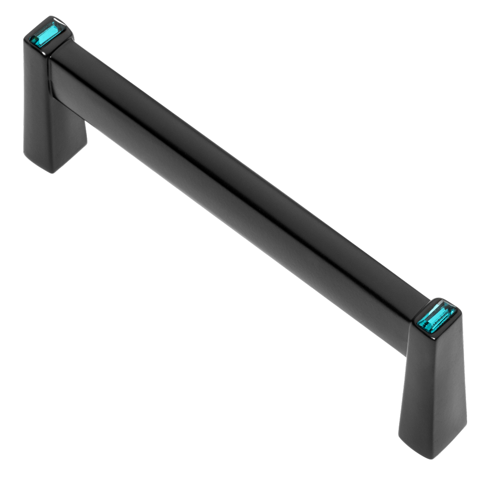 Long Island 96mm Cabinet Pull, Black, Ocean Blue