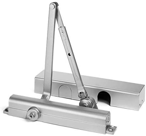 Dynasty Hardware 8500-HO-ALUM Surface Mount Door Closer with Hold Open Arm, Sprayed Aluminum