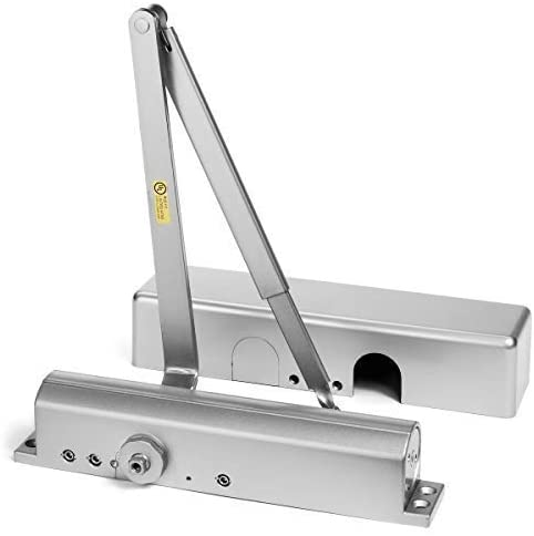Dynasty Hardware 8500-ALUM Commercial Grade Door Closer, Sprayed Aluminum