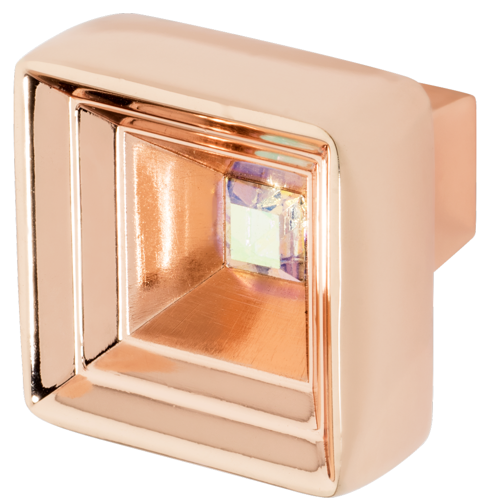 Hidden Treasure Cabinet Knob, Rose Gold, Multi-Color