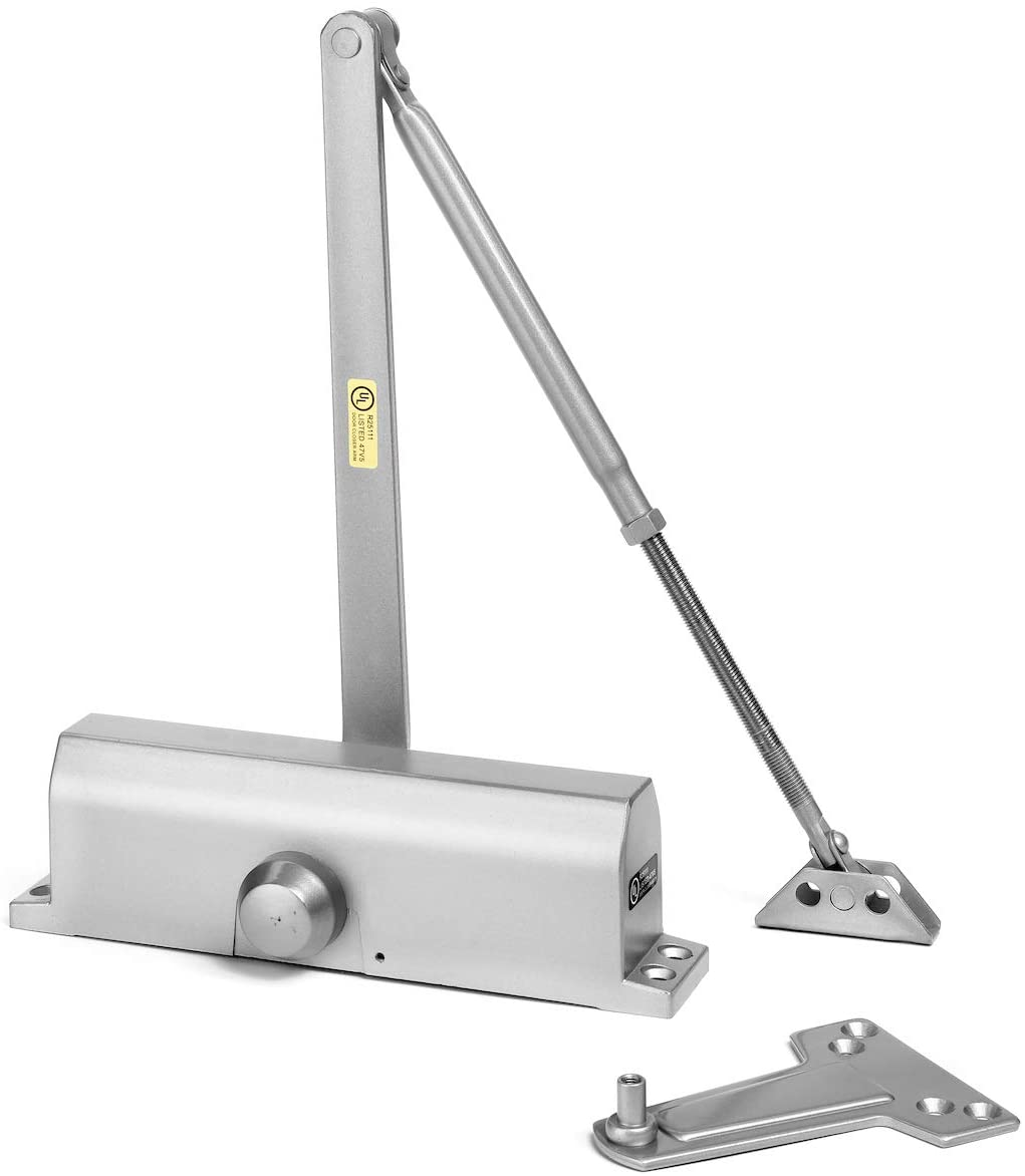 Dynasty Hardware 4000-ALUM Commercial Grade Door Closer, Size 4 Spring, Sprayed Aluminum