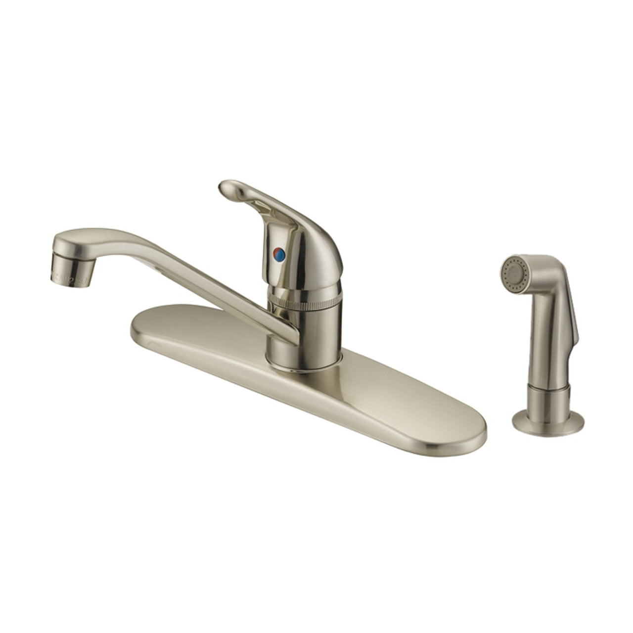 Designers Impressions 611618 Satin Nickel Kitchen Faucet w/ Sprayer