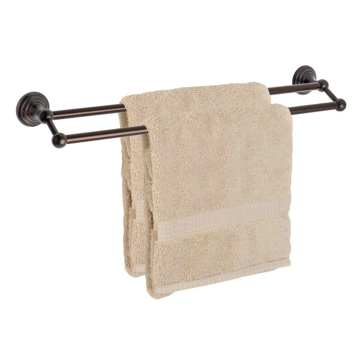 "Dynasty Hardware Bel Air 7516-ORB Oil Rubbed Bronze 24"" Double Towel Bar"