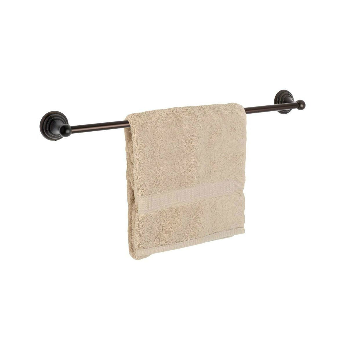 "Dynasty Hardware Bel Air 7518-ORB Oil Rubbed Bronze 18"" Single Towel Bar"