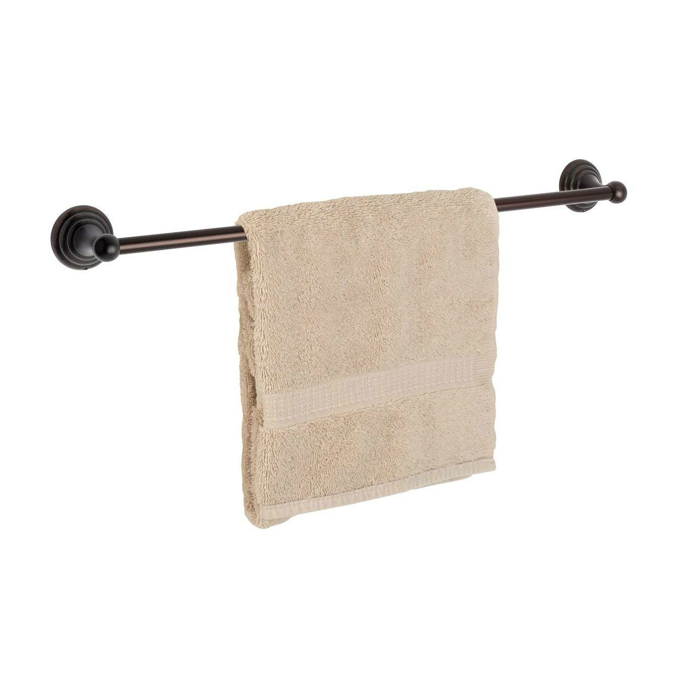 "Dynasty Hardware Bel Air 7524-ORB  Oil Rubbed Bronze 24"" Single Towel Bar"