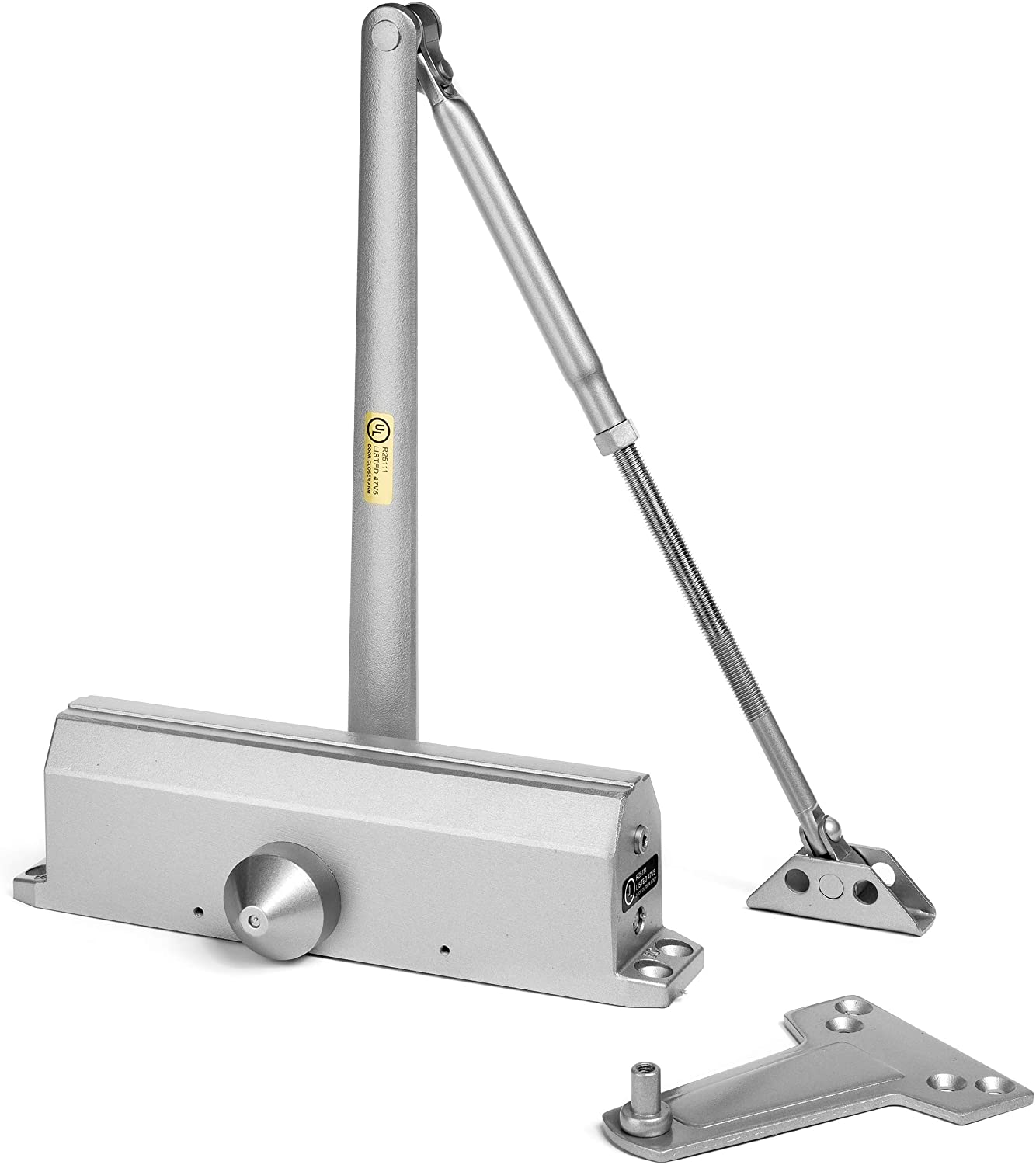 Dynasty Hardware 1614-ALUM Grade 1 Door Closer Size 1-4, ADA Compliant, Sprayed Aluminum