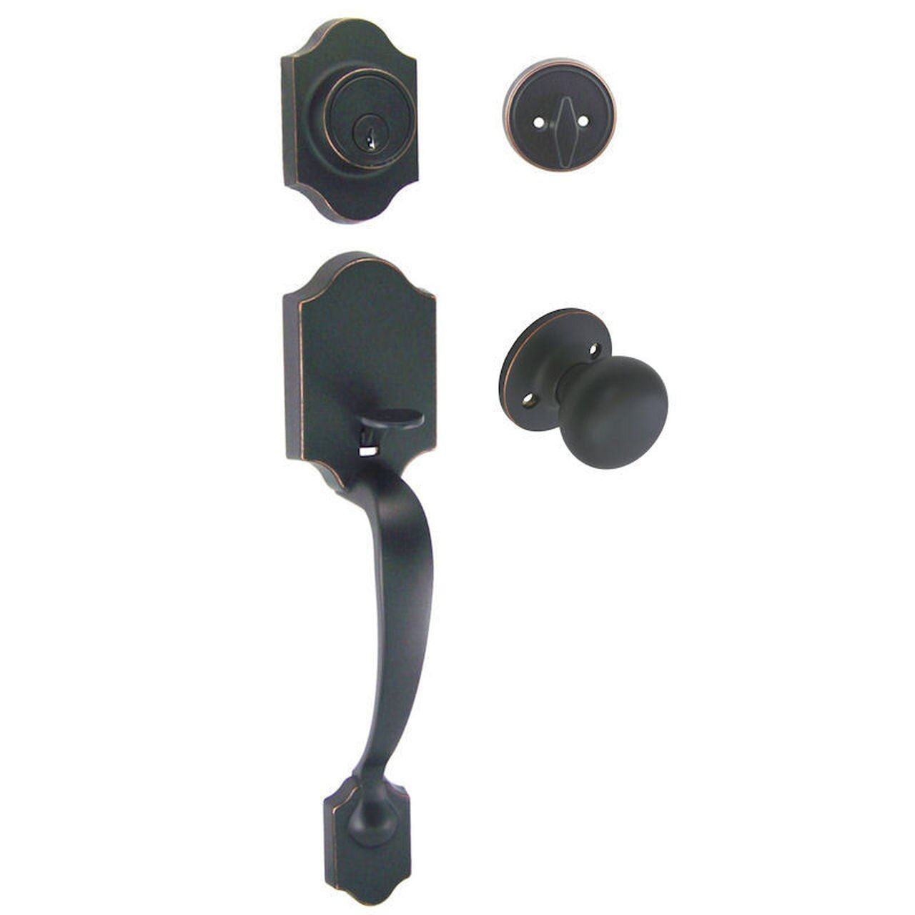 Valhala Oil Rubbed Bronze Decorative Handleset with Bedford Knob