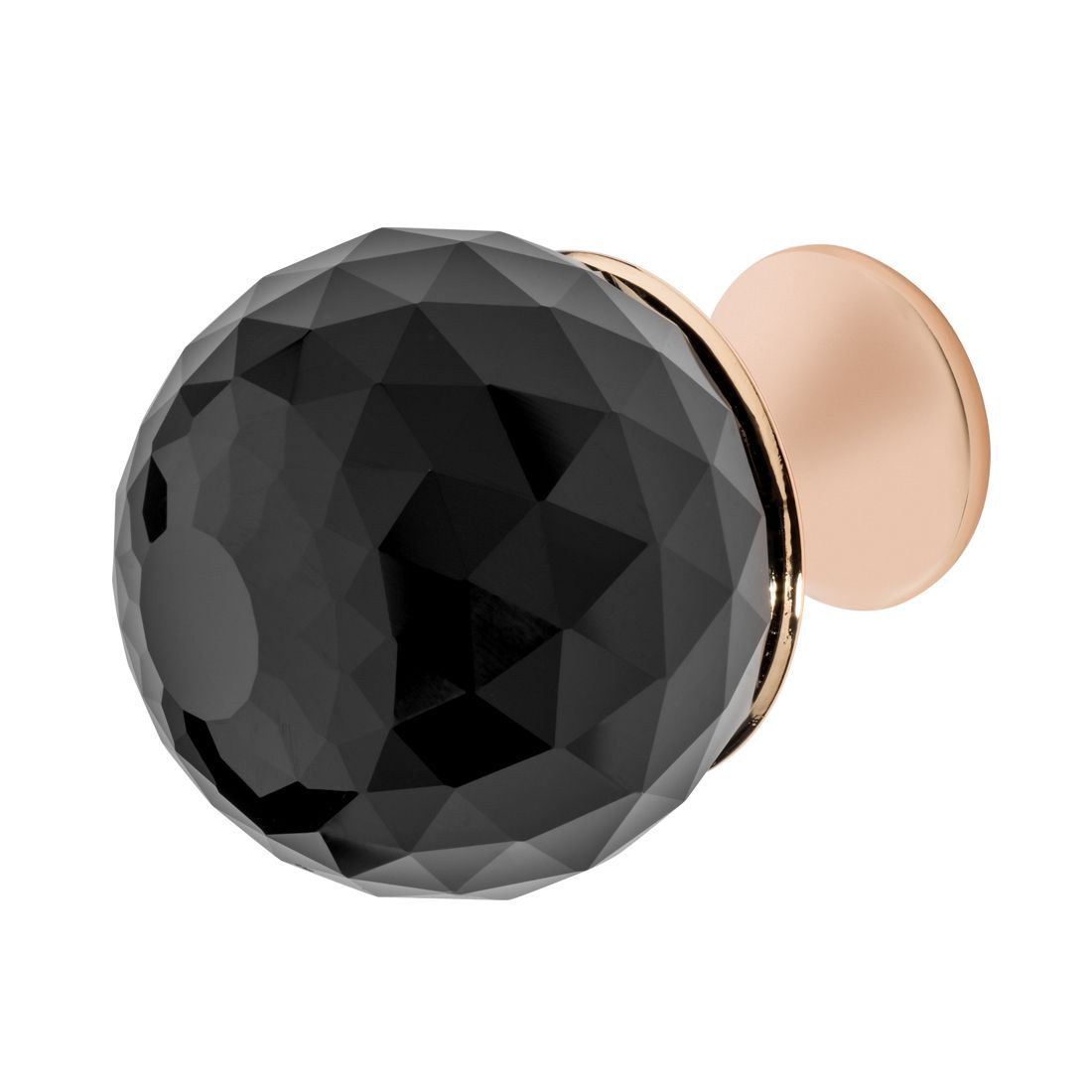 Rondure Knob, Rose Gold, Black