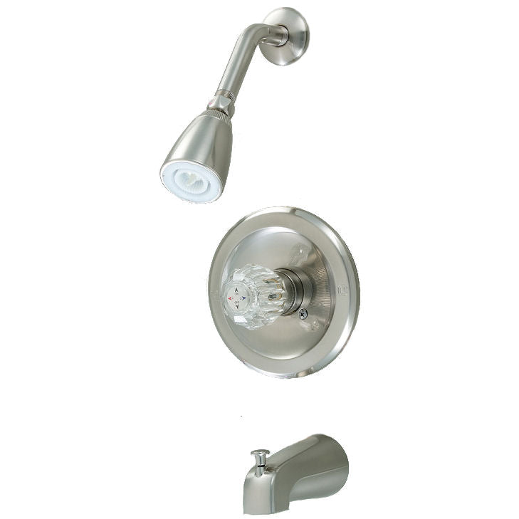 Crystal Cove 12-2597 Satin Nickel Tub / Shower Combo Faucet